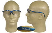 Pyramex Venture II Safety Glasses Blue Frame w/ Clear Lens