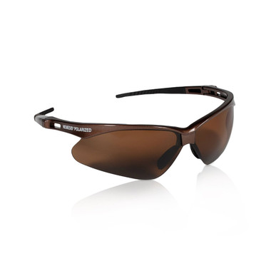Jackson Nemesis Glasses with Polarized Lens, Brown Lens Brown Frame
