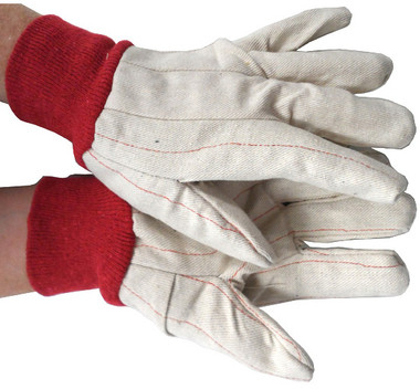 Cotton Red Line Gloves w/ Red Wrist Pic 1