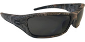 Edge Reclus Forest Camouflage Safety Glasses w/ Smoke Lens
