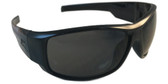 Edge Caraz Patriot Safety Glasses, Black Frame Smoke Lens (HZ116-P1) Oblique