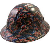 Patriot Skulls Hydro Dipped Hard Hats Full Brim Style
