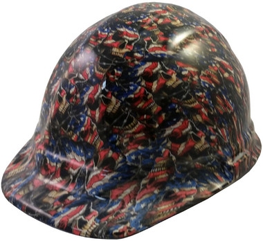 Patriot Skulls Hydro Dipped Hard Hats Cap Style Design