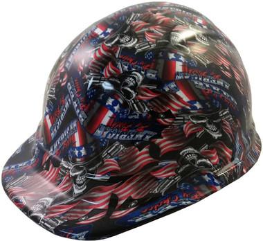 American Biker Hydro Dipped Hard Hats Cap Style Design