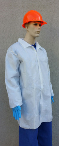 Suntech Microporous Labcoat Snap Front, No Pockets  pic 2