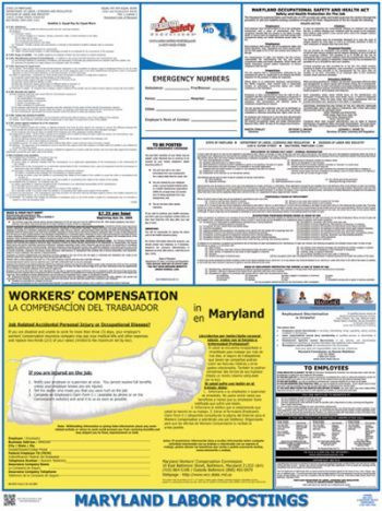 Maryland Public Industry State Labor Law Poster