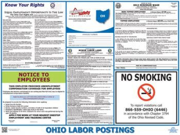 Ohio Public Industry State Labor Law Poster