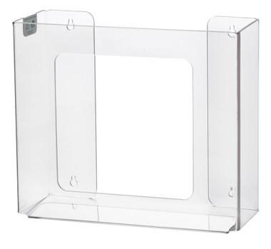 2-Box Horizontal Plastic Box Glove Dispenser ~ CLEAR PLASTIC