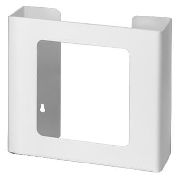 2-Box Horizontal Plastic Box Glove Dispenser ~ WHITE HEAVY-DUTY PLASTIC