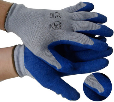 Cotton Knit Conforming Glove w/ Natural Rubber Pairs Pic 1