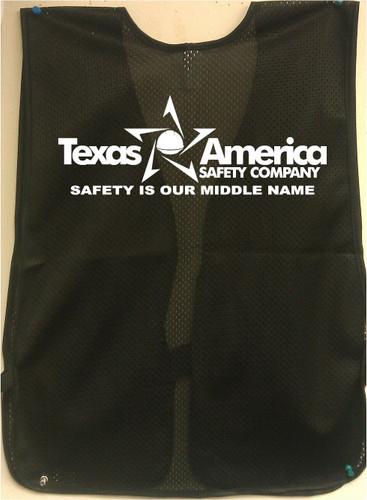Black Safety Vest Imprinting pic 2