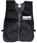 Black Safety Vests Multi Color Imprinting