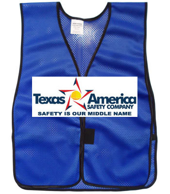 Add A Graphics Logo to Your Blue Safety Vests (MULTI COLOR)