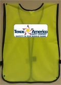 Imprinted Lime Safety Vests Multi Color Back