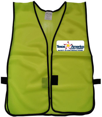 Imprinted Lime Safety Vests Multi Color Front