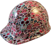 Sugar Skulls Hydro Dipped Hard Hats Cap Style