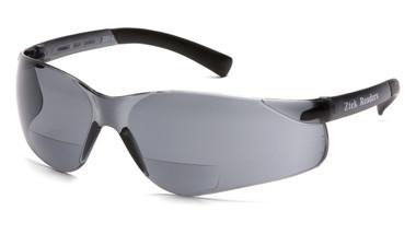 Pyramex Ztek Reader Safety Glasses ~ Smoke Lens ~ 2.0 Magnification Oblique