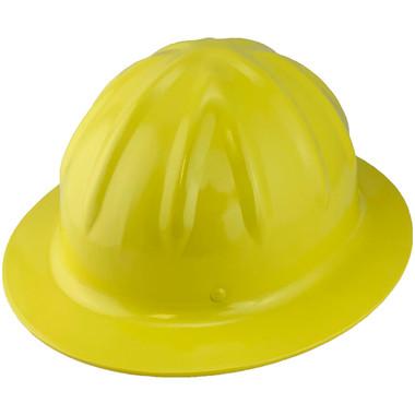 Skullbucket Aluminum Full Brim Hardhats ~ Yellow ~ Oblique