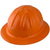 Skullbucket Aluminum Full Brim Hardhats ~ Orange ~ Oblique