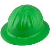 Skullbucket Aluminum Full Brim Hardhats ~ HI Viz Green ~ Oblique