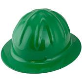Skullbucket Aluminum Full Brim Hardhats ~ Green ~ Oblique
