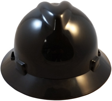 MSA V-Gard Full Brim Hard Hats with Staz-On Suspensions Black