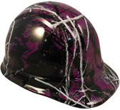 Muddy Girl Purple Hydro Dipped Hard Hats Cap Style
