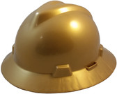MSA V-Gard Full Brim Hard Hats with One-Touch Suspensions Gold