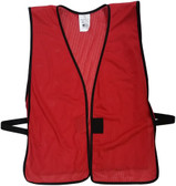 Brick Red Mesh Plain Safety Vest  pic 1