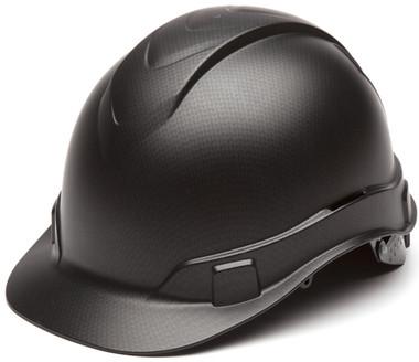 Pyramex Ridgeline Cap Style Hard Hat with Black Graphite Pattern Oblique