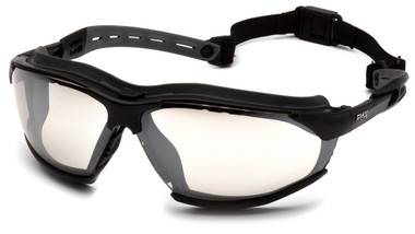 Pyramex Isotope Safety Glasses ~ Black Frame - H2 Max Indoor Ourdoor Anti-Fog Lens Top