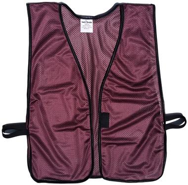 Maroon Soft Mesh Plain Safety Vest  Pic 1