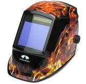 Pyramex Auto Darkening Welding Helmet w/ Flame Design