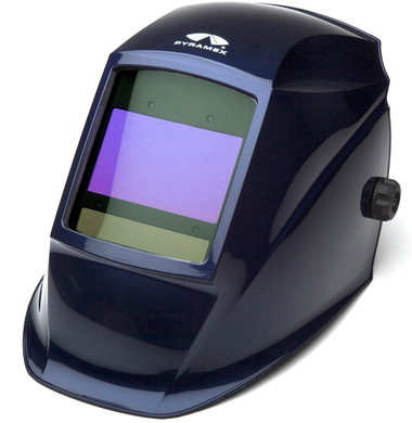 Pyramex Auto Darkening Digital Welding Helmet w/ Metallic Blue Design Large
