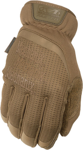 Mechanix Fast Fit Gloves Coyote Tan Color (Pair) Medium Size ~ Back View