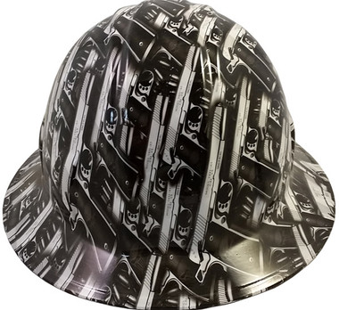 Model 1911 Pistol Hydro Dipped Hard Hats Full Brim Style