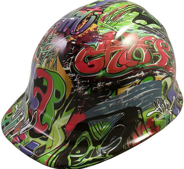 Graffiti Hydro Dipped Hard Hats Hydro Dipped Hard Hats Cap Style