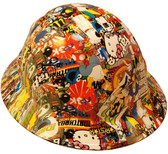 Cartoon Sticker Bomb 2 Hydro Dipped Hard Hats Full Brim Style