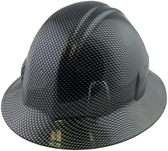 Carbon Fiber Design Hydro Dipped Hard Hats Full Brim Style ~ Oblique View