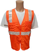 Orange MESH SURVEYOR Safety Vests CLASS 2 with Silver Stripes