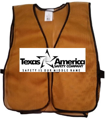 Add A Text Imprint to Your Ceremonial Gold Safety Vests (ONE COLOR