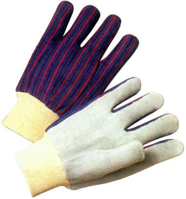 Economy Leather Palm Work Glove w/ Knit Wrists Pic 1