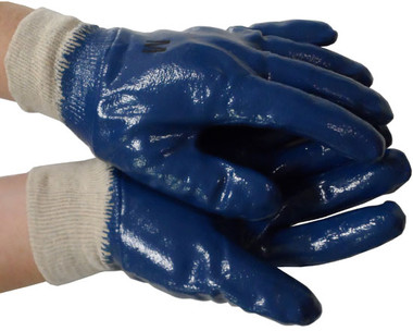 Nitrile Fully Coated Gloves Dozen Pic 1