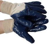 Nitrile Palm Coated with Knit Wrist Gloves (Sold by Dozen) Size Small