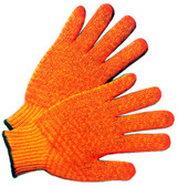 Polyester Orange Honeycomb Grip Gloves Pic 1