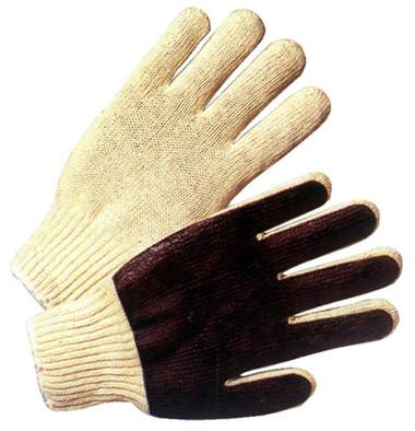 Cotton String Knit Glove w/ Black PVC Palm Pic 1