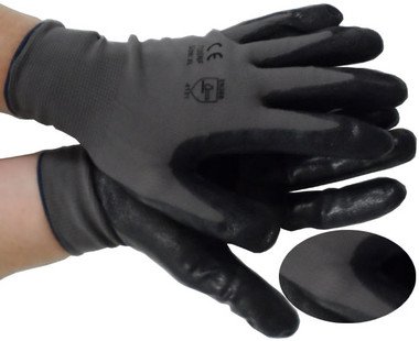 Nylon Grey Seemless Knit with Nitrile Coated Palm Pic 1