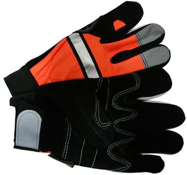 Hi-Vis Split DOUBLE PALM Cowhide Multi-Task Gloves pic 3