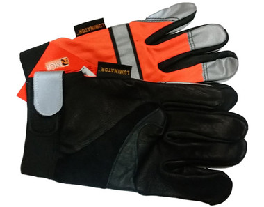 Hi-Vis Orange Grain Cowhide Multi-Task Glove w/ Velcro pic 2