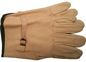 Cowhide Driver Gloves with Leather Pull Straps Pic 1